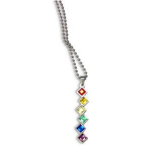 Rainbow Stacked Gems Pendant