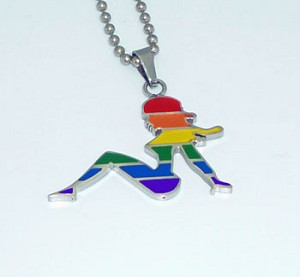 Mudflap Girl Stainless Steel Pendant / Necklace