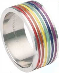 Enamel Rainbow Ring (Size 12 Only)