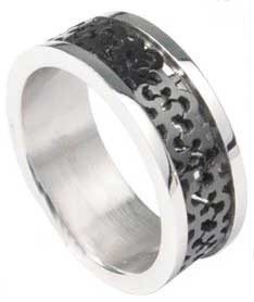 Carved Female Stainless Ring