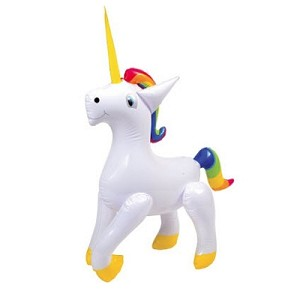 Unicorn Inflatable (Rainbow Mane & Tail!)
