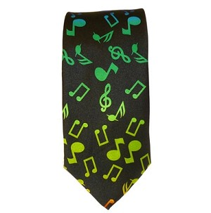 Rainbow Musical Notes Necktie