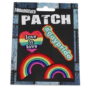 Rainbow Embroidered Patch Set