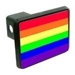 Rainbow Flag Hitch Cover
