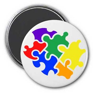 Pieces of Puzzle Magnet