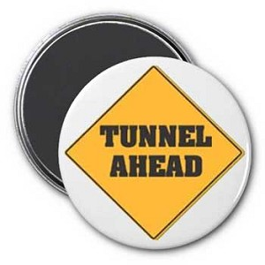 Tunnel Ahead Magnet