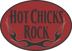 Hot Chicks Rock Mouse Pad