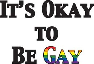 It's Okay To Be Gay Key Chain
