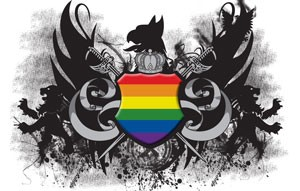 Rainbow Crest Mouse Pad