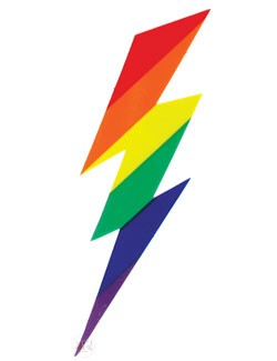 Rainbow Bolt Cling Sticker