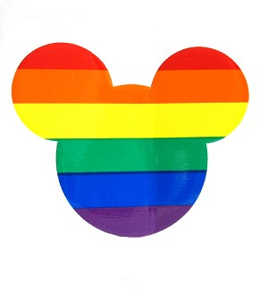 Rainbow Mouse Cling Sticker