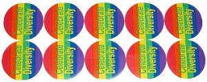 Celebrate Diversity  (10 per Sheet) Stickers