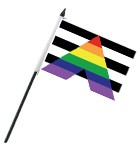 Straight Ally 4'' x 6'' Flag on a Stick