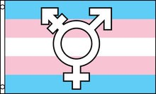 Transgender Flag (with symbol) 3ft x 5ft  Printed Polyester