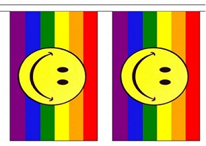 Rainbow Flag Smiley Face String Flags Banner