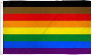 Rainbow (POC) Flag 3ft x 5ft Printed Polyester