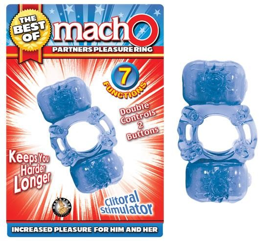 The Best Of Macho Partners Pleasure Ring Blue
