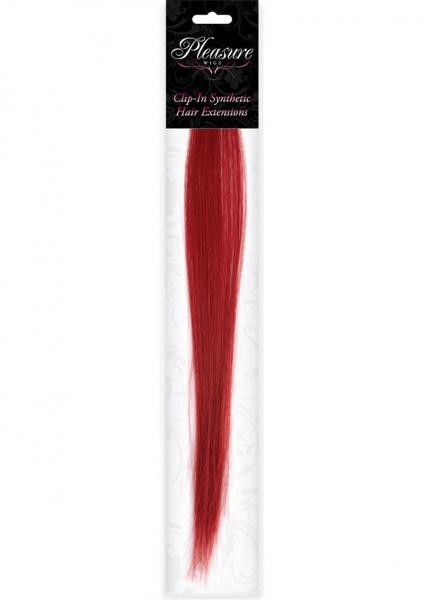 Hair Clip In Extension Red